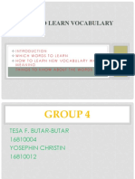 presentation of how to learn vocabulary