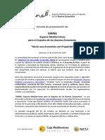 Programa Jornada EMINE Alicante. Octubre 2019. Fundación Caja Mediterráneo