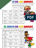 Bingo de Los Amigos 2019 2020