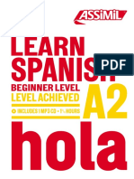 Assimil Learn Spanish Beginner Level Level Achieved A2 Hola