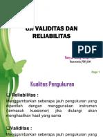 Validitas  Reliabilitas