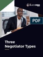 Three Types of Negotiators