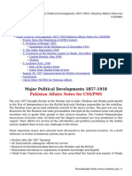 Major Political Developments 1857-1918 _ Pakistan Affairs Notes for CSS_PMS