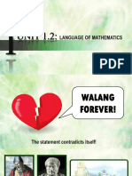 Language of Mathematics Lecture - For Student
