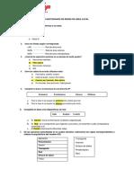 Cuestionario - Redes