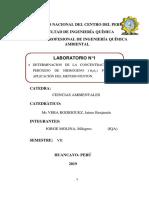 Determinación de la Concentración del peróxido de hidrógeno para la aplicación del método fenton