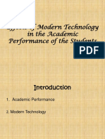 Effects of Modern Technology in the Academic Performance