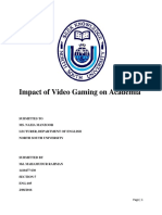 Impact of Video Gaming on Academia Ackno