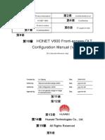 HONET V600 Front-Access OLT Configuration Manual (V1.10)