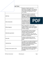 Scope Management Terms - PMP