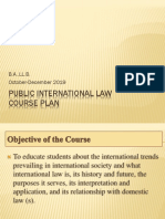 Public Internastonal Law Course Plan