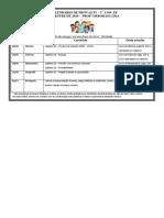 Calendário de Provas - p1 4 Bimestre - Pais