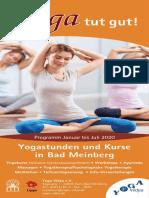 Yoga Vidya Abendkurse 1. Halbjahr 2020