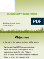 CS 1 - 3.1 - Excel 2010 Introduction