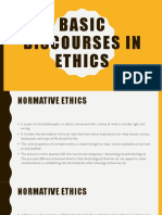 Basic Discourses in Ethics