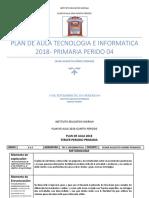 Plan de Aula 2018 Cuarto Primaria