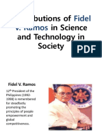 Contributions of Fidel V