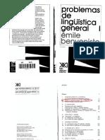 Benveniste-ojeada Al Desenvolvimiento de Linguistica-Anotado
