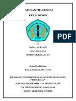Laporan Praktikum Kerja Beton (1)