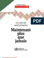 APS Rapport Sur La Sante Dans Le Monde-2008 Resume