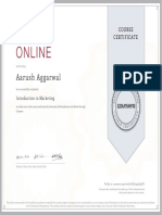 Marketing Certificate
