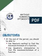 3 Numerical Optimization