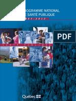 Document stratégique du  Programme National de santé publique Québec 2002 -2012