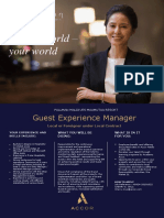 Guest Experience Manager Advert