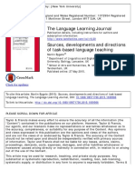 Bygate 2015 Sources Development and Directions of Task Based Lang Teaching