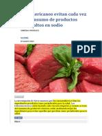 Latinoamericanos Evitan Cada Vez Más El Consumo de Productos Cárnicos Altos en Sodio