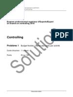 Examen d'expert en finance et controlling 2019 - Solutions