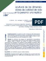 Estudio Transcultural Dimensiones e Indicadores Calidad Vida Centradas en La Persona