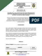 Resolucion. Nro. 090 Nov 2018- Traslados Presupuestales
