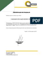 Certificados de Trabajo- Henry Yarleque