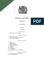 Finance Act 2004