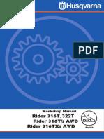 Husqvarna R322 (R316) Shop Service Manual
