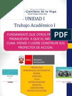 Trabajo Académico i o d a Proyectos Promueven Simbolizacion Nivel Inicial Cunas