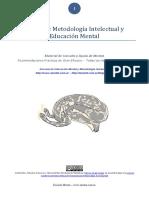 Claves de metodología intelectual y educación mental