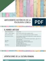 Antecedentes Históricos de La Psicología Clínica