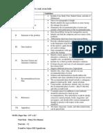 Format for a Written Case Analysis