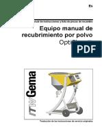 Equipo Manual de recubrimiento por polvo