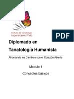 Conceptos Básicos de Tanatología - Mod 1