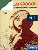 Cuentos de San Petersburgo  Nikolái Gógol