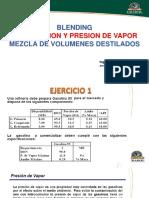Blending Optimizacion y Presion de Vapor Practica
