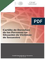 Cartilla de derechos de las personas en situación de víctimas de secuestro