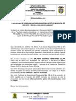 Resolucion. Nro. 091 Nov 2018- Comision Nov 2018 - Travesia Rio Orinoco