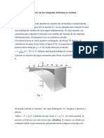 Aplicación de Las Integrales Definidas en Solidos