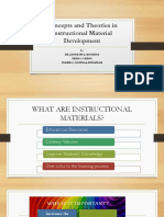 Concepts and Theories in Instructional Material Development Seminar
