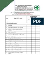 Evaluasi Kelengkapan Pealatan Klinis