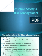 Construction Safety And Risk Management Lecture 4